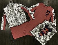 Стильный костюм платье и жилетка с куклами ЛОЛ (LOL) для девочки