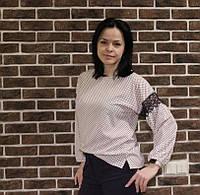 Блузочка с длинным рукавом для женщин, 50-54 р-ры, 310/260 (цена за 1 шт.+ 50 гр)
