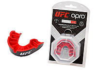 Капа OPRO Silver UFC Hologram Black/Red (art.002259002)