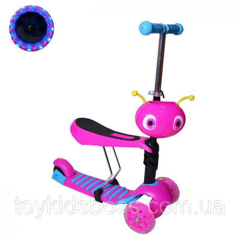 Самокат 2 в 1 детский скутер с сиденьем