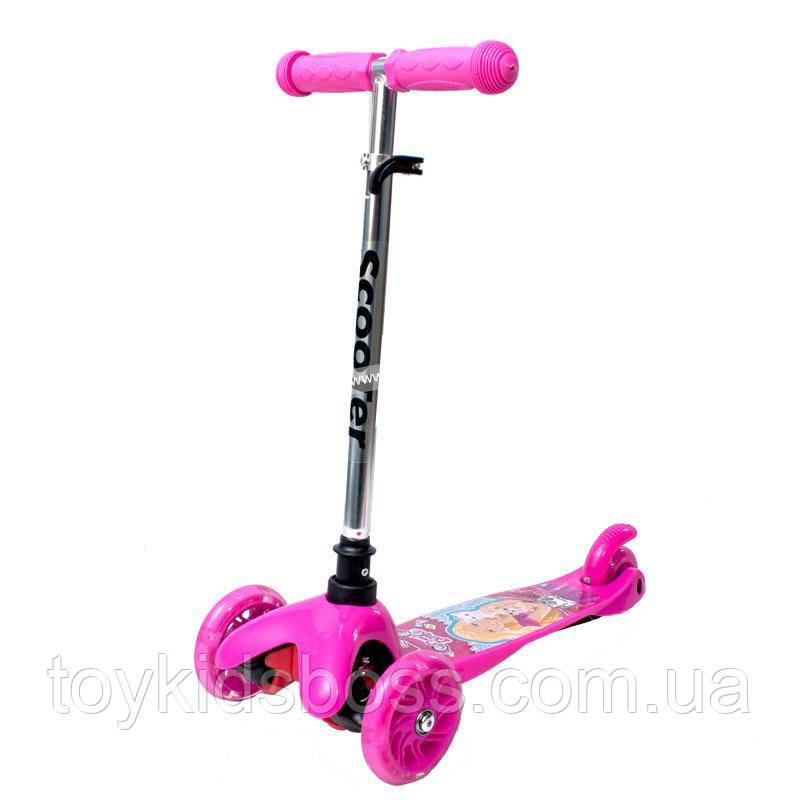 Самокат Мини-скутер с внутренней наклейкой