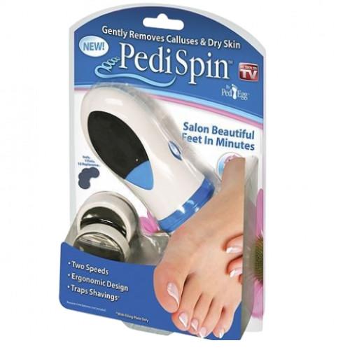 Электрическая пемза Pedi Spin пилка для удаления огрубевшей кожи ног щетка для педикюра