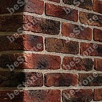 """Декоративная плитка под кирпич """"Старая Прага"""" красная с подпалом, для внутренней отделки -1 м.кв."""