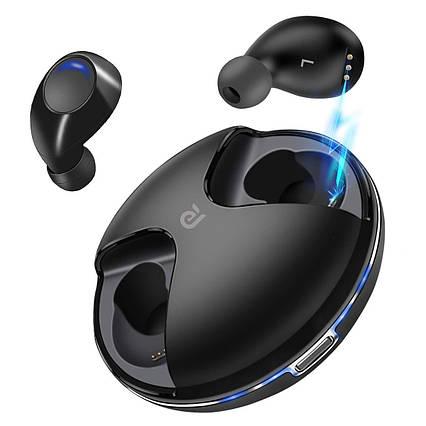 Беспроводные наушники-гарнитура Kissral Bluetooth 5.0 зарядный кейс черные, фото 2