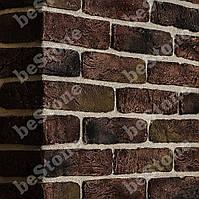 """Плитка для стен под кирпич """"Старая Прага"""" шоколад. Декоративная гипсовая плитка - 1 м.кв."""