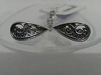 Красивые серебряные серьги без камней