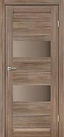 Межкомнатная дверь Canneli Серое дерево стекло серый графит 600x2000