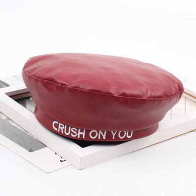 Женский берет из экокожи Crush On You красный