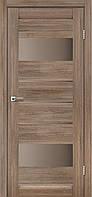 Межкомнатная дверь Arona Серое дерево стекло сатин бронза