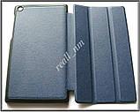 Синий чехол книжка для Lenovo Tab 2 A7-30 с магнитами в эко коже PU, фото 7