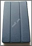 Синий чехол книжка для Lenovo Tab 2 A7-30 с магнитами в эко коже PU, фото 2