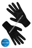Перчатки трикотажные Seven черные без ПВХ точки двойные 7116,10 р.