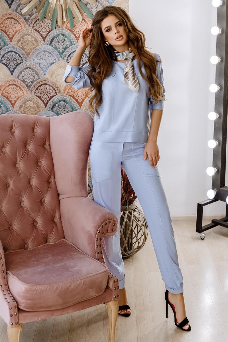 f1aa53e8256 Женский брючный костюм из льна - купить по лучшей цене в Одессе от ...