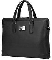"""Удобная сумка из качественной эко-кожи для ноутбука 16"""" Continent CM-161BK черный"""