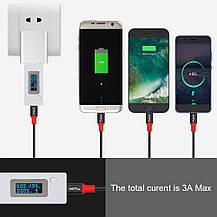 USB-кабель для зарядки 3-в-1  USB 2.0-USB Type C/Micro/Lighting черный, фото 3