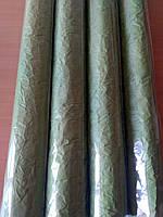 Бумага упаковочная, жатая, оливковая, 4.5м в рулоне