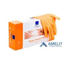 Перчатки нитриловыеАбена(ABENA), оранжевые, размер «XS», 50пар/уп.