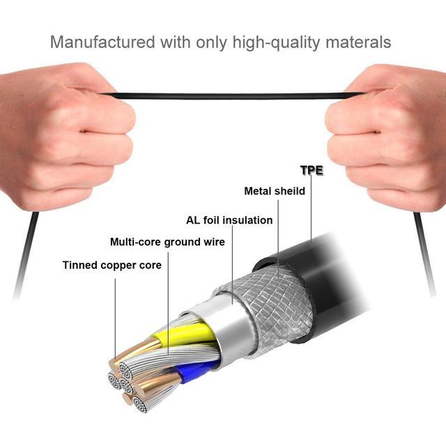 USB-кабель для зарядки 3-в-1  USB 2.0-USB Type C/Micro/Lighting черный