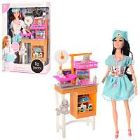 Кукла доктор ветеринаршарнирная 29 см с аксессуарами,набор доктора, фигурки, мебельJX200-17