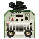Сварочный аргонодуговой инвертор Атом I-250X ( с комплектом кабелей КГ-25 2+3 м и зажимами Binzel ), фото 2
