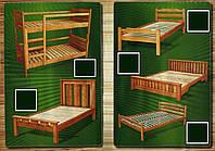 Кровать полуторная деревянная эконом (1200*2000; 1400*2000 мм)