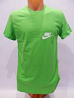 Мужская футболка однотонная NIKE зеленая