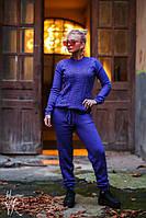 Костюм Мод.: КВ-6 Размер: one size  Цвет: фиолет, мокко, голубой Стильные вязаные вещи никогда не выходят из