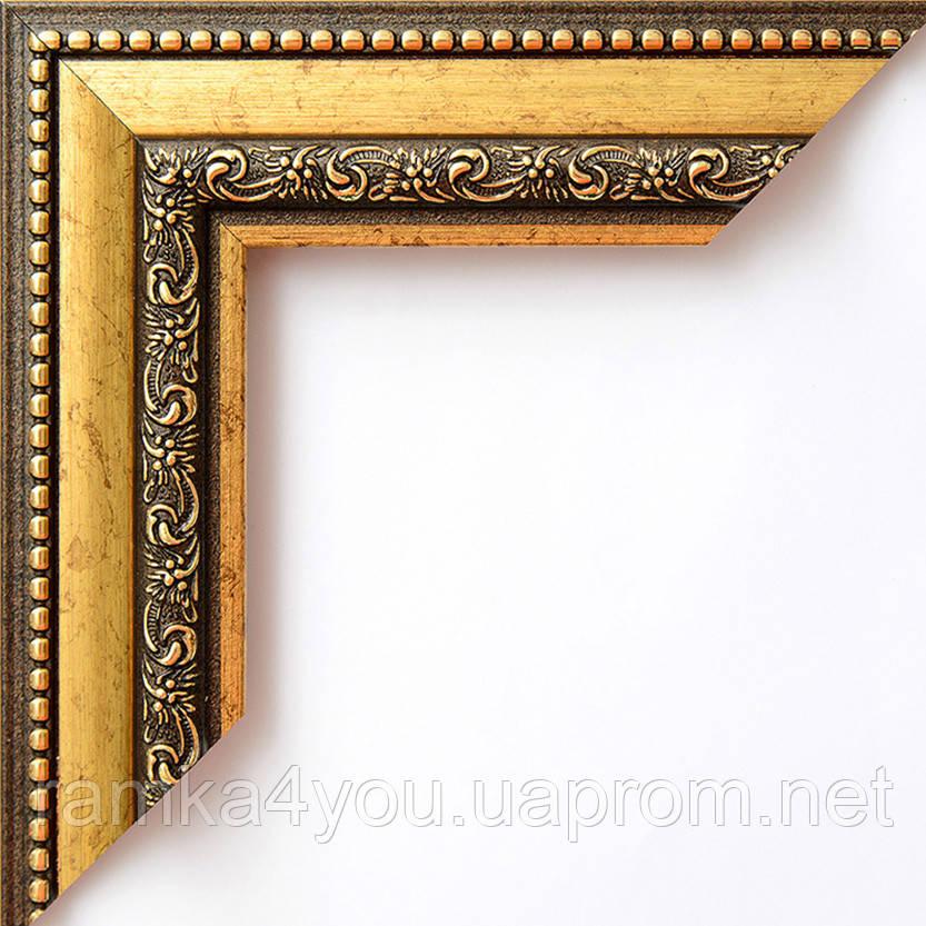 Фоторамка 21x30 42 мм коричневая с золотом