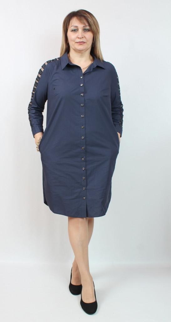 Турецкое женское платье - рубашка, размеры 48-54