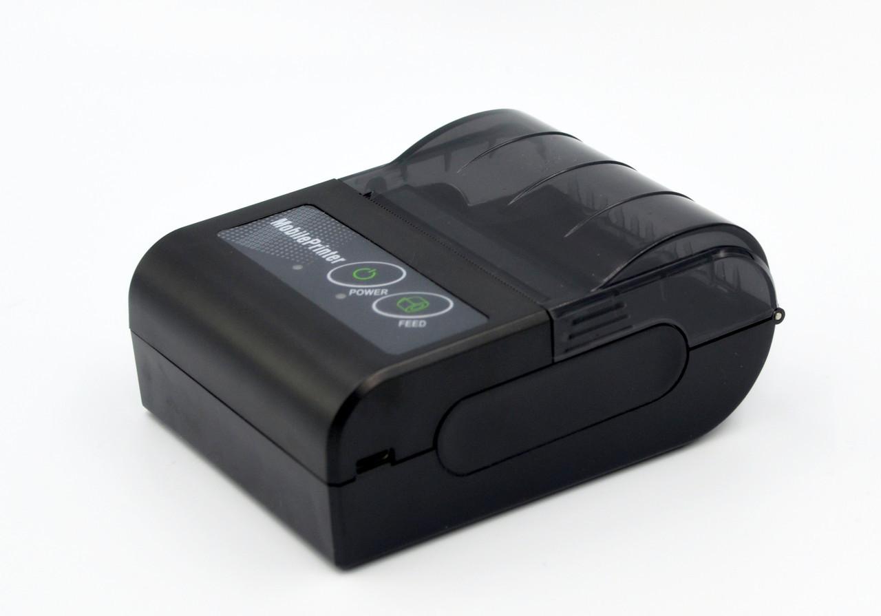 Термопринтер, POS, чековый принтер мобильный WodeMax WD-58GS чёрный, беспроводный, bluetooth, Android(WD-58GS)