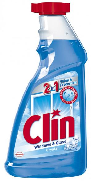 """Средство Clin для мытья окон и зеркал """"Голубой"""" (500мл.) запаска"""