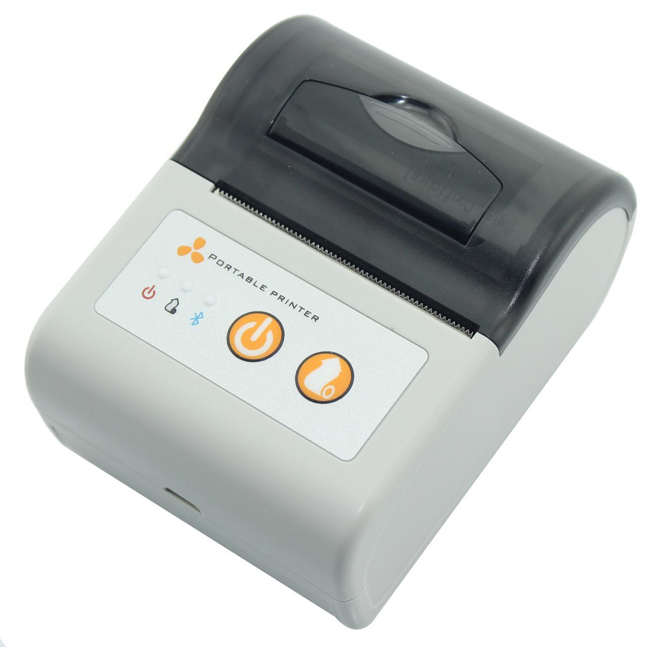 Принтер етикеток AsianWell AW-58A білий, мобільний, бездротовий, bluetooth (AW-58A)
