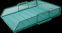 Горизонтальный металлический лоток для бумаг buromax bm.6254-04 зеленый