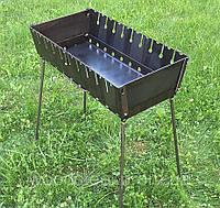 Мангал складной (чемодан) на 10 шампуров, фото 1