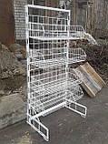 Корзинчатый стеллаж б у , стеллаж торговый сетчастый б у, сетка стеллаж металлический б/у, фото 2