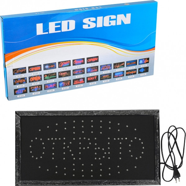 Светодиодная LED вывеска ОТКРЫТО 48×25×2 см
