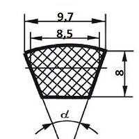 Ремень клиновой  SPZ 10-8-1637