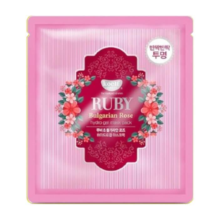 Гидрогелевая маска для лица с рубином и болгарской розой Koelf Ruby & Bulgarian Rose Hydro Gel Mask Pack