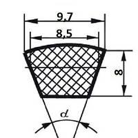 Ремень клиновой  SPZ 10-8-800