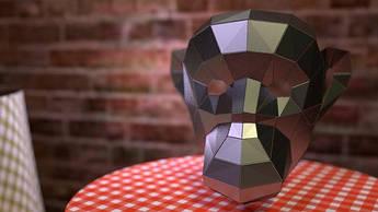 Papercraft Маска шимпанзе