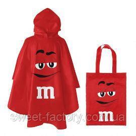 Дождевик M&M's красный