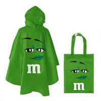Дождевик M&M's зелёный