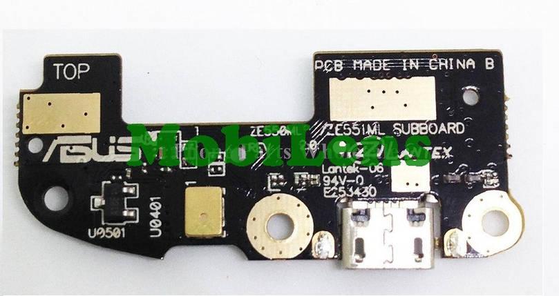 Asus ZE550KL, ZE551KL, ZenFone 2 Laser Шлейф с разъемом зарядки и микрофоном, фото 2