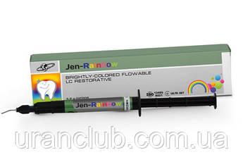 Цветной светоотверждаемый текучий  композит  Jen-Rainbow (Джен рейнбол) 2мл
