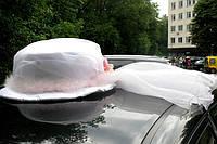 """Свадебная """"Шляпка"""" для украшение машины невесты - (украшения для авто на свадьбу)"""