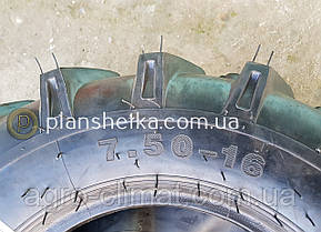 Шина 7.50-16 десяти слойная PR 10 для мини тракторов , фото 2
