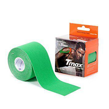 Кинезиотейп Tmax kinesio tape зеленый