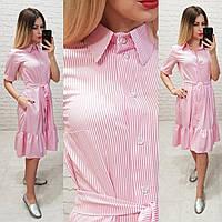 Платье женское в полоску с карманами С208, фото 1