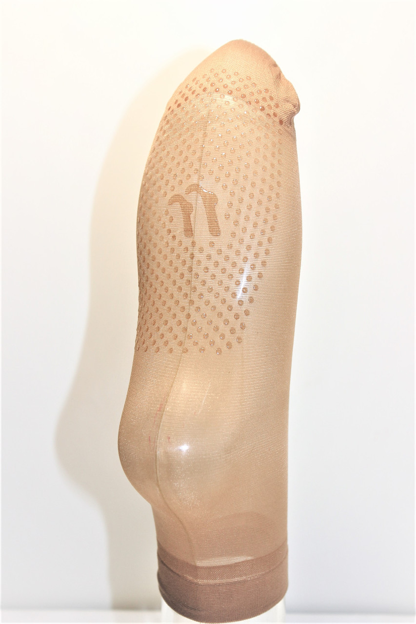 Носочки женские капроновые Бежевый с силиконом № 201(уп. 10 пар) цена за упаковку.