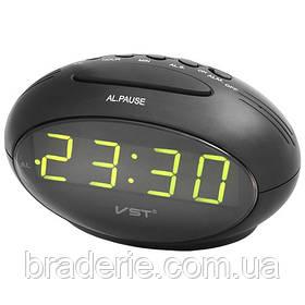 Часы электронные сетевые VST 711-2 Зеленое свечение